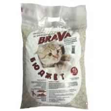 Brava Бюджет 15 л  впитывающий наполнитель , Брава для кошек