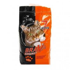 Brava Бюджет 7 л Впитывающий наполнитель для кошек  , Брава для кошек