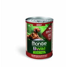 Monge BWild Grain Free д/собак ягненок/тыква/кабачки 400гр