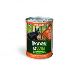 Monge BWild Grain Free д/собак мелк.пород утка/тыква/кабачки 400гр