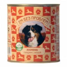 ЕМ БЕЗ ПРОБЛЕМ банка для собак Говядина с лапшой 750г
