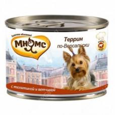 Мнямс Террин по-Версальски (телятина с ветчиной) консервы для собак 200 г
