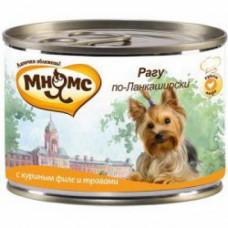 Мнямс Рагу по-Ланкаширски (куриное филе с травами) консервы для собак 200 г