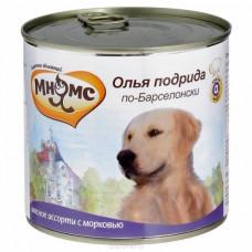 Мнямс Олья Подрида по-Барселонски (мясное ассорти с морковью) консервы для собак 600 г