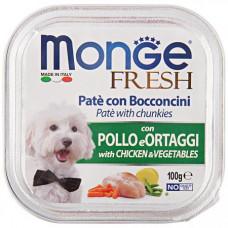 Monge Dog Fresh консервы для собак курица с овощами  100 г , Монж для собак, консервы, паучи