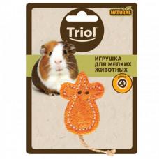 TrioL игрушка д/мелк.животных из люфа Мышка 60/100мм Триол