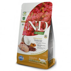 Farmina N&D Cat GF Quinoa & Quail Skin & Coat c перепелом, киноа, кокосом и куркумой 300г