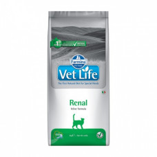 Farmina Vet Life Cat Renal для взрослых кошек при при заболеваниях почек 2кг, Фармина для кошек