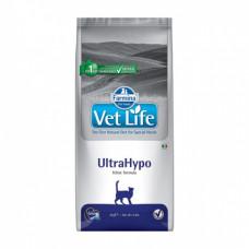 Farmina Vet Life Cat UltraHypo для взрослых кошек при пищевой аллергии 2кг, Фармина для кошек