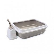 IMAK туалет д/кошек DUO c совочком на подставке 59*40*28h