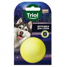 """Triol Игрушка NIGHT CITY для собак""""Мяч-неон"""",85мм"""