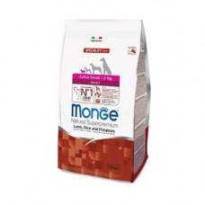Monge Adult Extra Small Lamb, Rice and Potatoes 2,5кг для взрослых собак миниатюрных пород с ягненком, рисом и картофелем