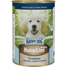 Happy dog 410 г для щенков с телятиной печенью сердцем и рисом  , Хэппи Дог для щенков (консервы)