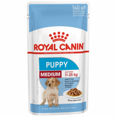Royal Canin Медиум Паппи соус 0,140 кг , Роял Канин для щенков (консервы,паучи)