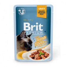 Brit premium пауч филе тунца в соусе 85 г , Брит