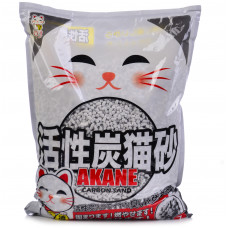 ACANE  с актив/углем 7л комкующ на бумажной основе , Акане наполнитель для кошек, Япония