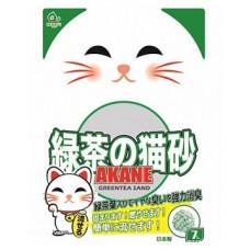 ACANE с ароматом зел/чая 7л комкующ на бумажной основе  , Акане наполнитель для кошек, Япония