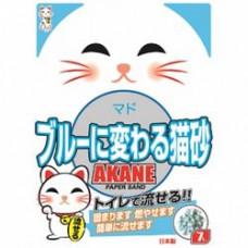 ACANE с цветовым индикатором 7л комкующйся  , Акане наполнитель для кошек, Япония