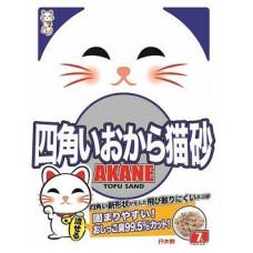 ACANE  на основе соевых бобов 7л  комкующ на бумажной основе , Акане наполнитель для кошек, Япония