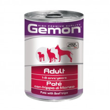 Gemon Dog Mini Консервы для собак паштет с говяжьим рубцом 400 г , Джемон для собак (консервы, паучи