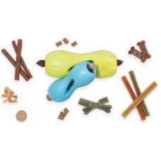 Zogoflex Air игрушка для собак гантеля под лакомство Qwizl L 17*7 см оранжевая