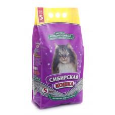 Сибирская Кошка Экстра 5 кг Комкующийся наполнитель для длинношерстных кошек
