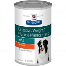 Hill's Prescription Diet W/D Digestive/Weight/Diabetes Management 370г для взрослых собак для нормализации пищеварения, веса и уровня глюкозы в крови