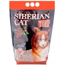 Сибирская Кошка Тофу 12л Комкующийся наполнитель кофе