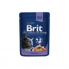 Brit premium пауч д/кошек Лосось-форель 100г , Брит