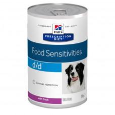 Hill's d/d Duck 370 г с уткой для собак с пищевой аллергией, , Хилс для собак (консервы)