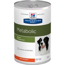 Hill's Metabolic 370г для улучшения метаболизма (коррекции веса) у собак , Хилс для собак (консервы)
