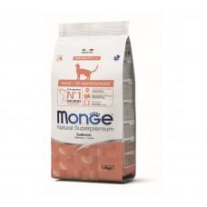 Monge Cat Adult Salmon для взрослых кошек с лососем 1,5кг, Монж для кошек