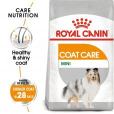 Royal Canin Mini Coat Care 3кг для поддержания здоровья кожи и шерсти мелких и миниатюрных пород собак