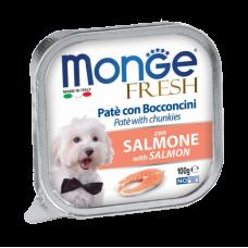 Monge Dog Fruit консервы для собак с лососем паштет 100 г , Монж для собак, консервы, паучи