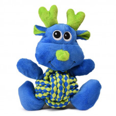 Kong игрушка для собак weave knots лось средний 22*20 см  Конг