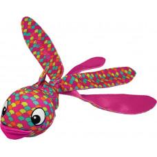 Kong игрушка для собак wubba finz рыба S ,с пищалкой ,розовая Конг