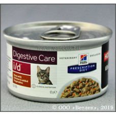 Hill's i/d Chicken жб 82 г для кошек Лечение ЖКТ рагу с курицей , Хилс  для кошек (консервы, паучи)
