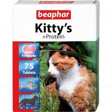 Beaphar Kitty's Protein 75 шт. Витаминизированное лакомство с протеином и вкусом рыбы для кошек , Бе