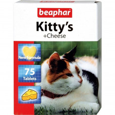 Beaphar Kitty's Cheese 75 шт Витаминизированное лакомство для кошек со вкусом сыра , Беафар , Беафар