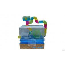 Клетка для грызунов Н916 (47(56)*30*31(51))с трубами ,домик сверху*6