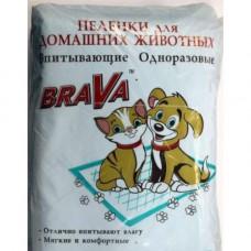 Пеленки впитывающие БРАВА д/ж 60*40, 30шт, гелевые