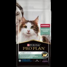 Pro Plan 7+ Sterilised LIVECLEAR Turkey 1,4кг для стерилизованных кошек с индейкой старше 7 лет