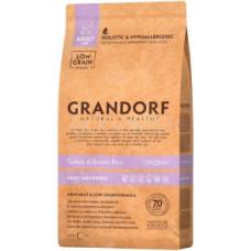 Grandorf Adult Mini Turkey&Brown Rice 3кг для взрослых собак мелких пород с индейкой и бурым рисом