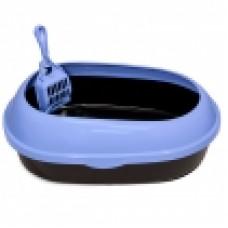 Туалет Keiko с совком и прозр бортом 48*40*13 (Лотки, Туалеты)