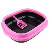 Туалет Keiko с совком и цветным бортом 48,5*40*13 (Лотки, Туалеты)