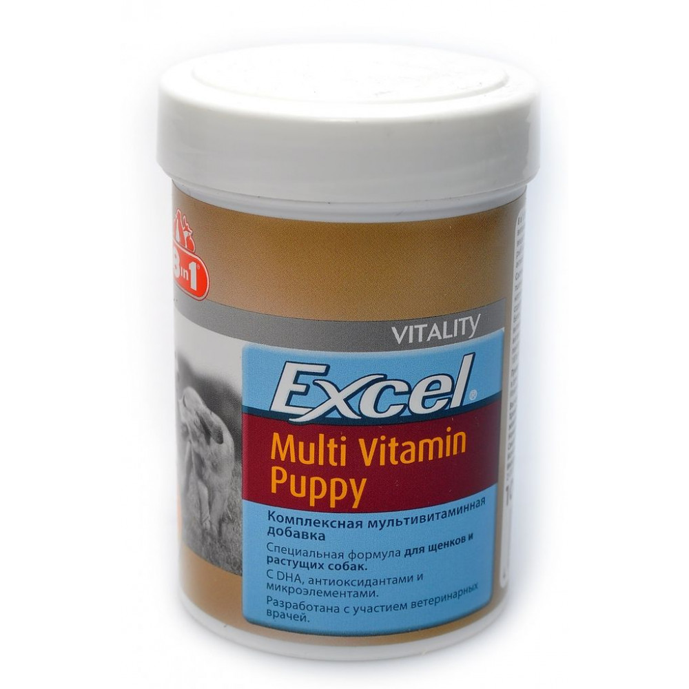 8in1 Эксель Мультивитамины для щенков 100 таб