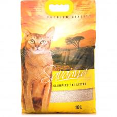 SAVANNA 10 л комкующийся наполнитель для кошек , Саванна для кошек