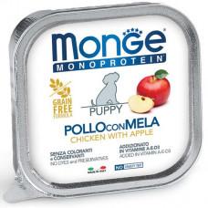 Monge Dog Monoproteico  консервы для щенков паштет из курицы с яблоком150 г ,