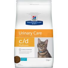 Hill's Prescription Diet c/d Multicare Urinary Care Ocean Fish 1,5кг для взрослых кошек при МКБ, Хилс для кошек