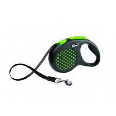 Рулетка-ремень для собак до 15 кг, 5 м, зеленая, Design S Tape, 5 m, green 350 г